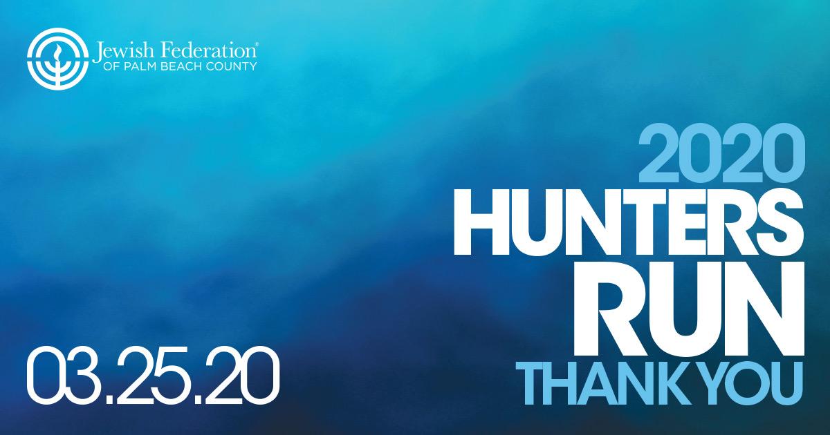 2020 HUNTERS RUN THANK YOU