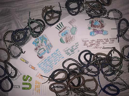 finished bracelets and cards